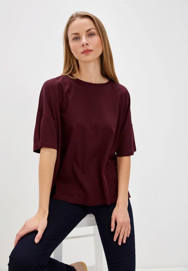 женская футболка max&co, бордовая