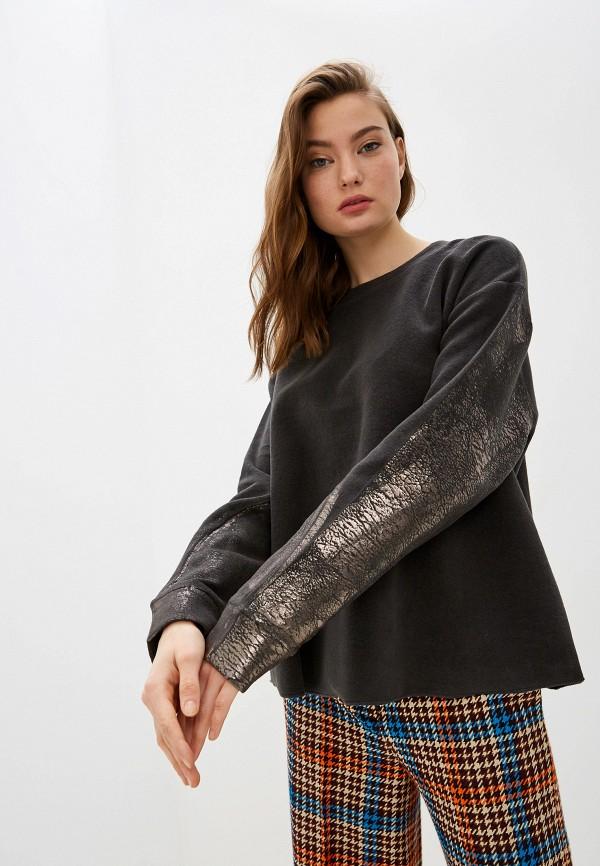 женский свитшот max&co, серый