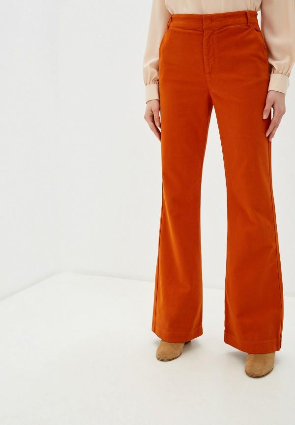 женские классические брюки max&co, оранжевые