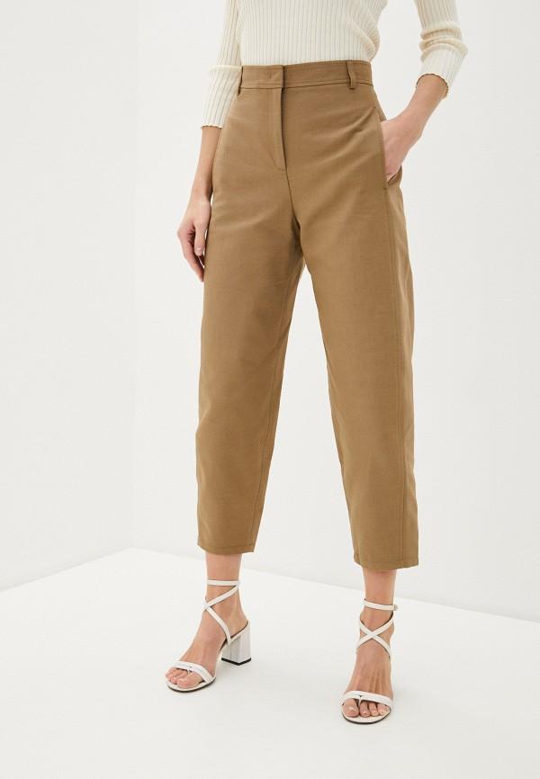 женские повседневные брюки max&co, коричневые