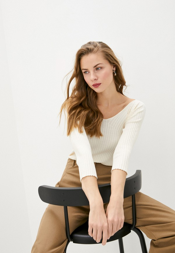 женский пуловер max&co, бежевый