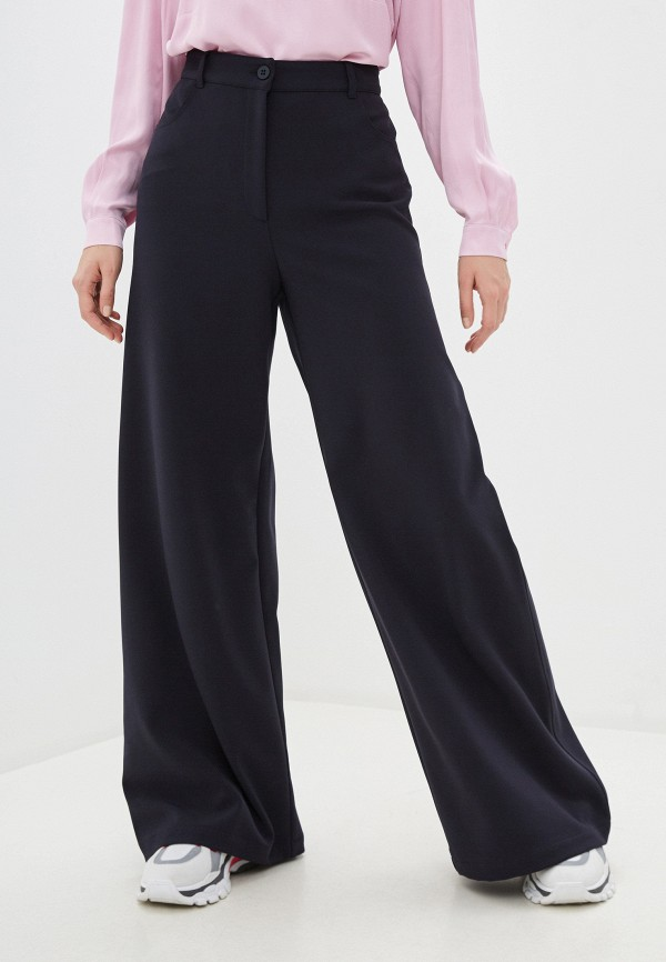 женские классические брюки max&co, синие
