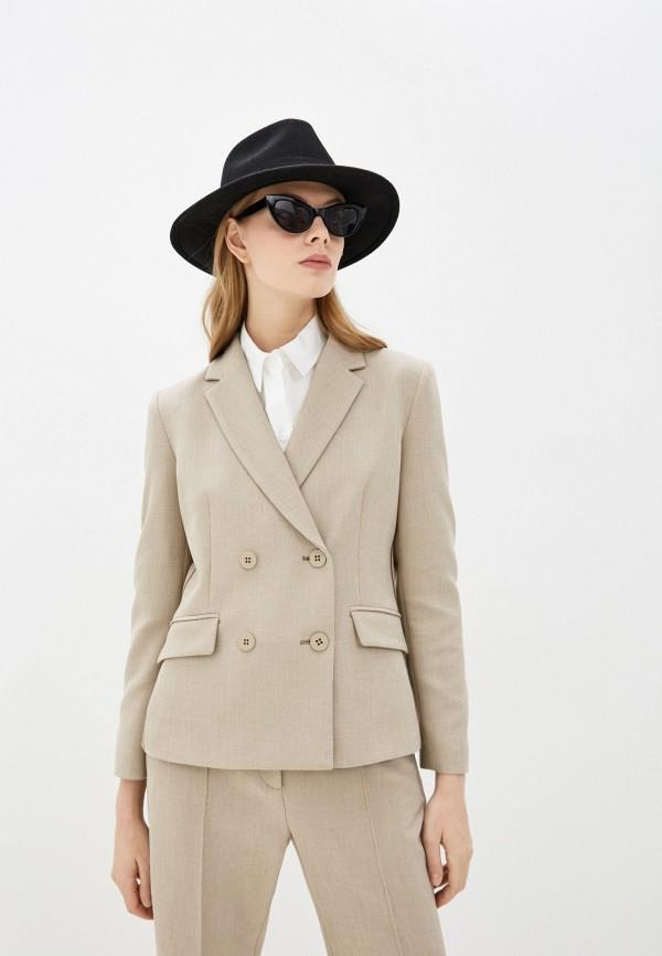 женский пиджак max&co, бежевый