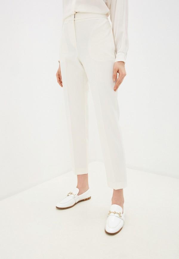 женские классические брюки max&co, белые