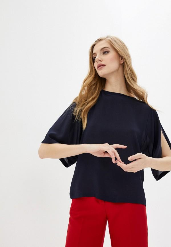 женская блузка max&co, синяя