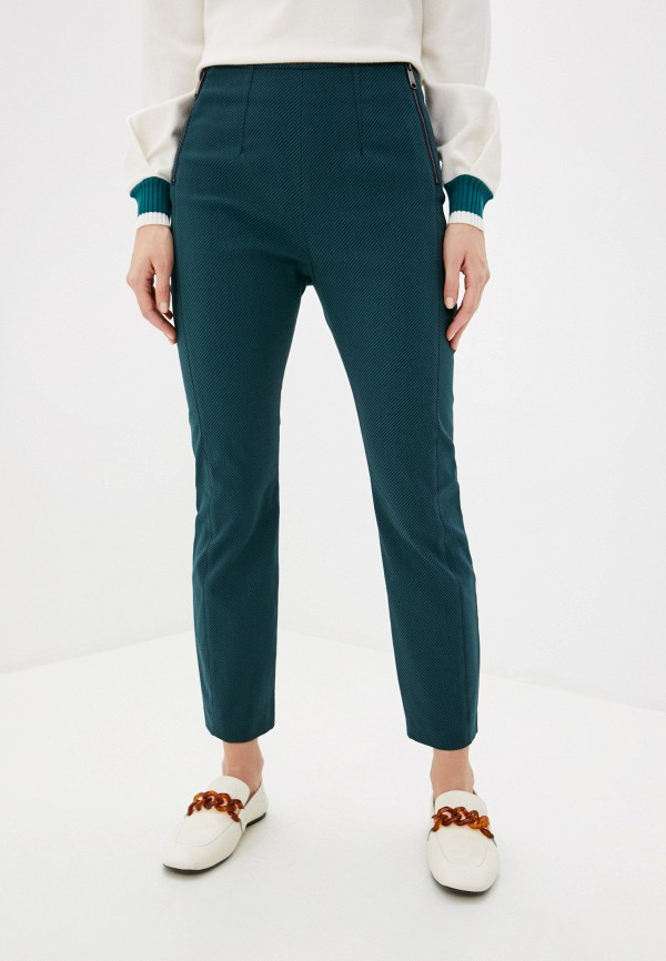 женские классические брюки max&co, бирюзовые