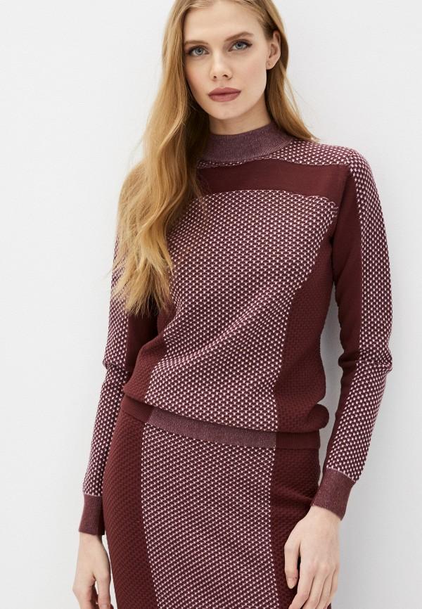 женский свитер max&co, бордовый