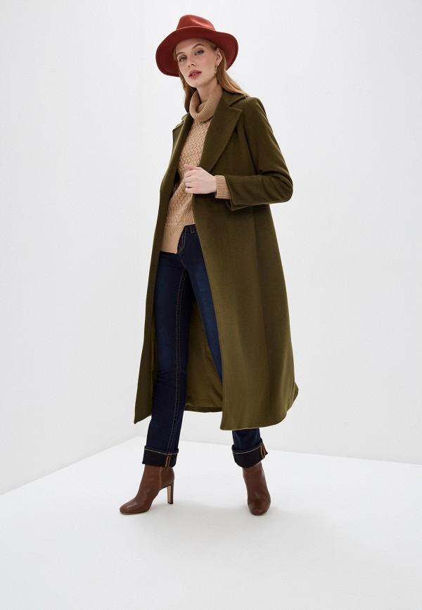 женское пальто max&co, зеленое