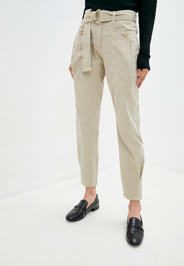 женские повседневные брюки max&co, бежевые