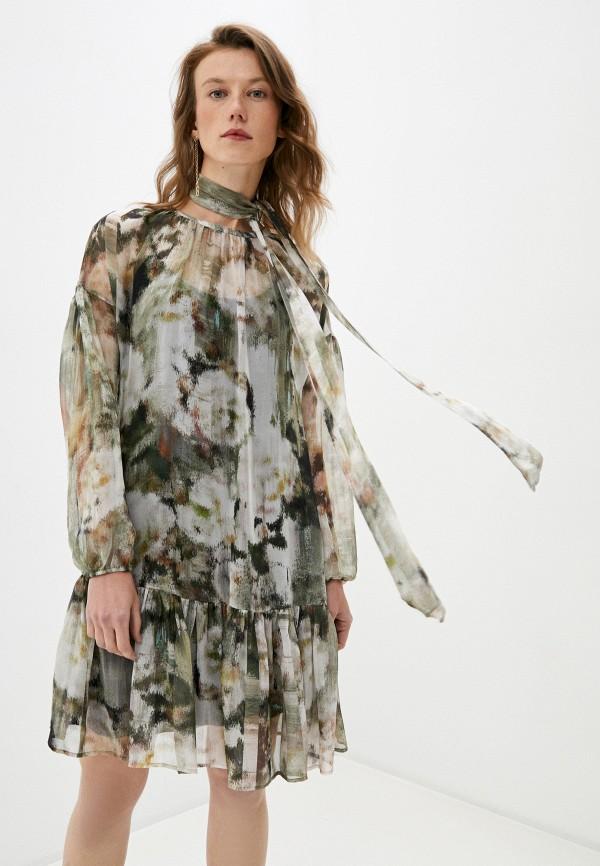 женское повседневные платье max&co, хаки