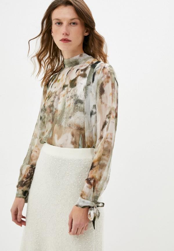 женская блузка max&co, хаки