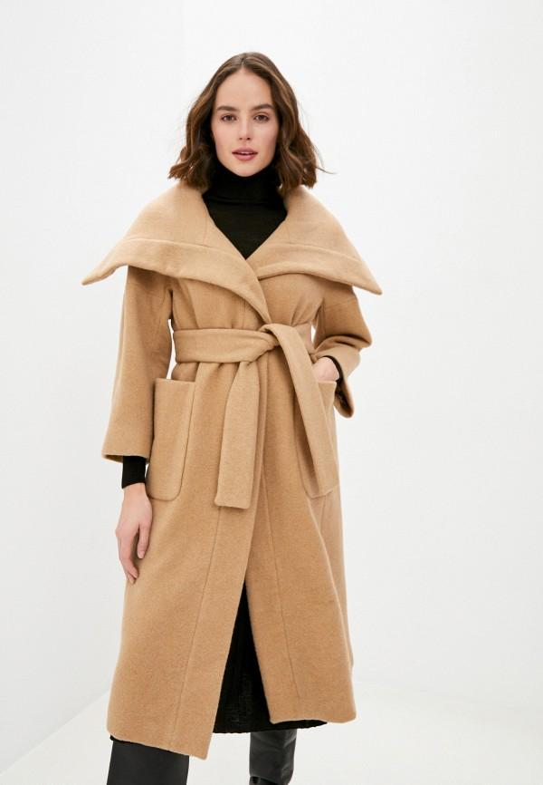 женское пальто max&co, бежевое
