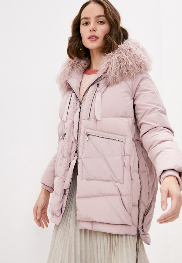женская куртка max&co, розовая