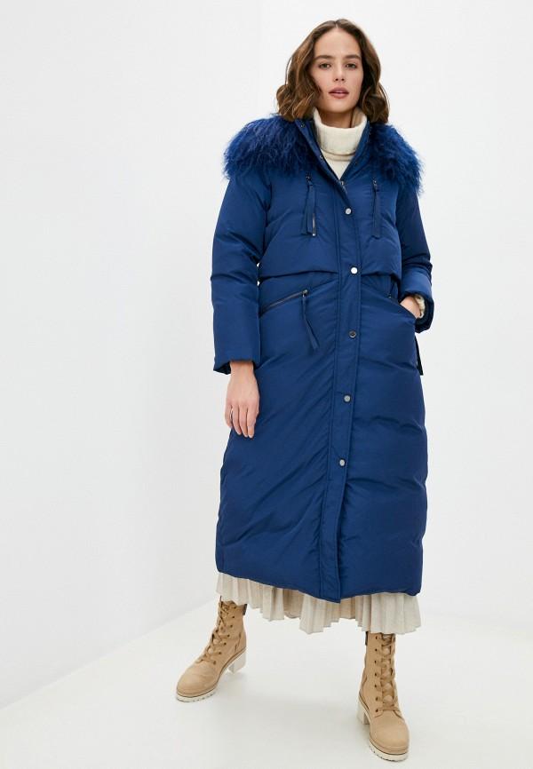 женский пуховик max&co, синий
