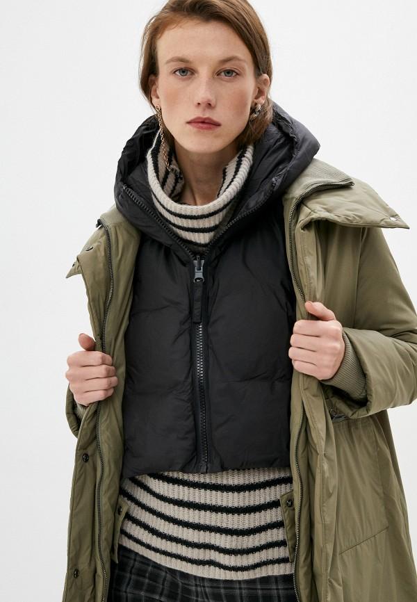 женский жилет max&co, черный