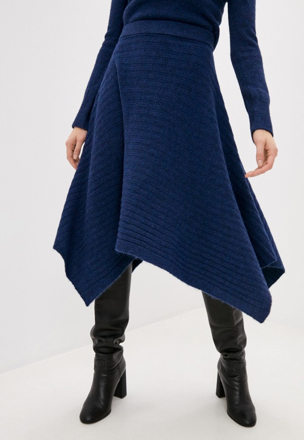 женская водолазка max&co, синяя