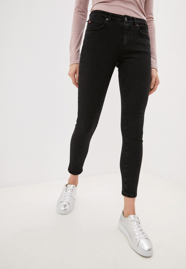 женские джинсы скинни max&co, черные