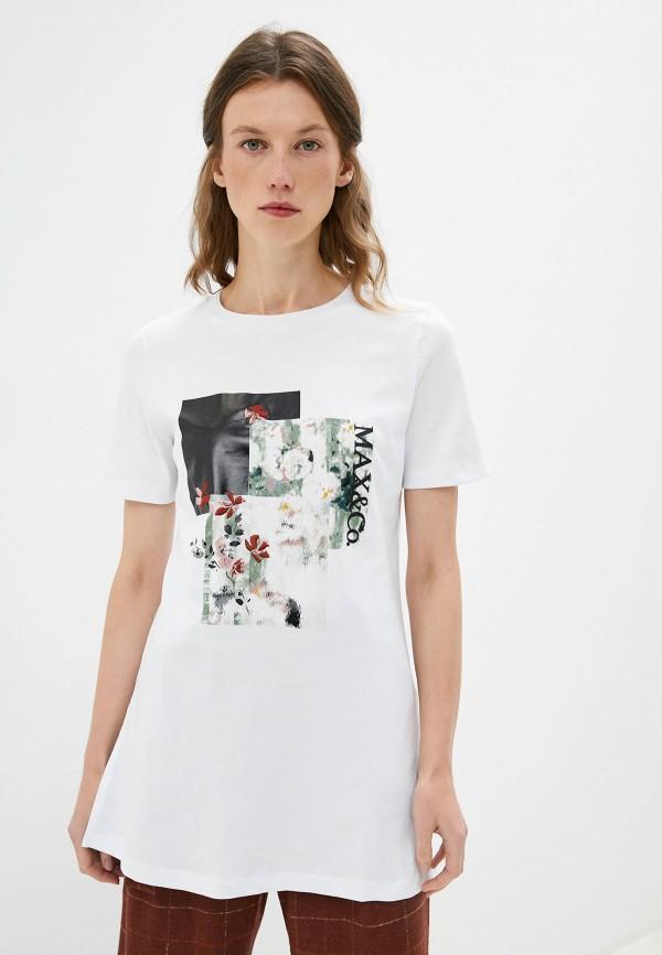 женская футболка max&co, белая