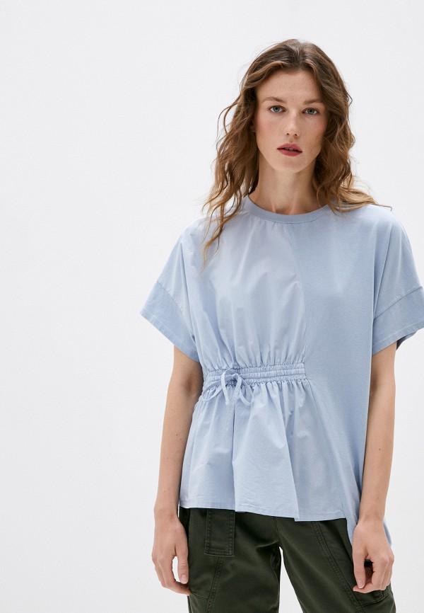 женская блузка max&co, голубая