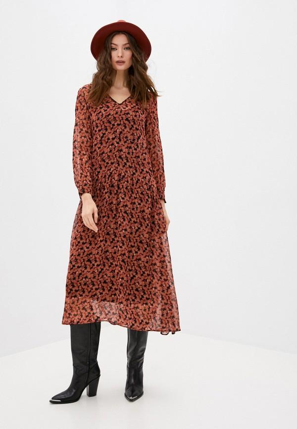 женское повседневные платье max&co, оранжевое