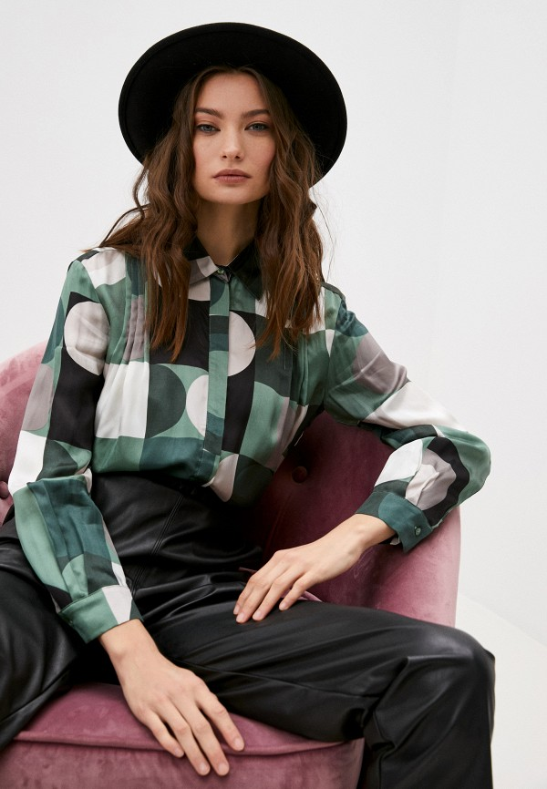 женская блузка max&co, зеленая