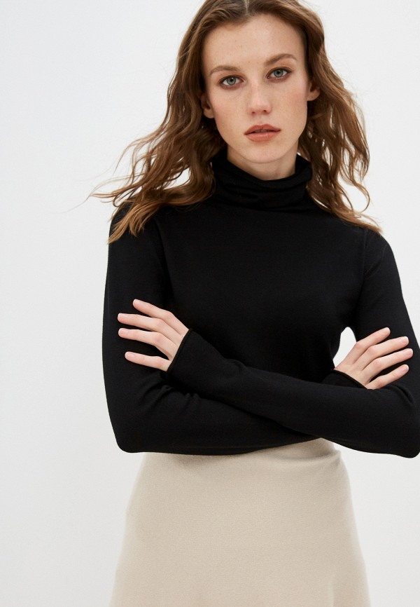 женская водолазка max&co, черная