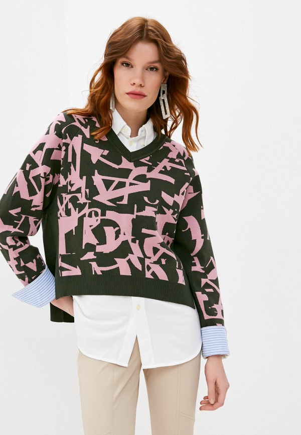 женский пуловер max&co, хаки