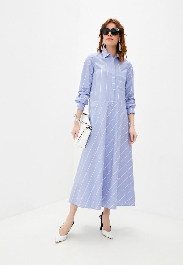 женское повседневные платье max&co, голубое