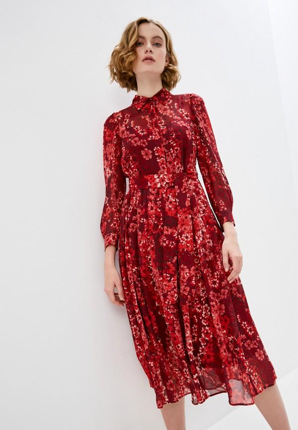 женское повседневные платье max&co, красное