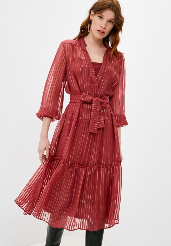 женское повседневные платье max&co, бордовое