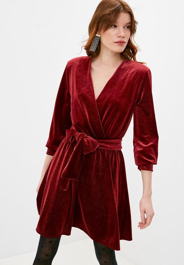 женское вечерние платье max&co, бордовое