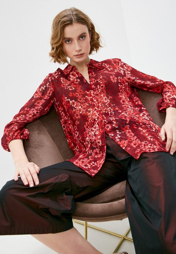 женская блузка max&co, бордовая