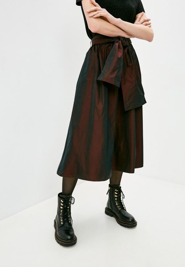 женская юбка max&co, коричневая