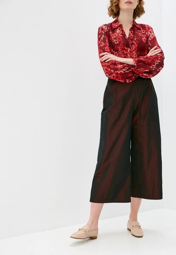 женские повседневные брюки max&co, бордовые
