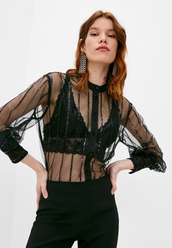 женская блузка max&co, черная