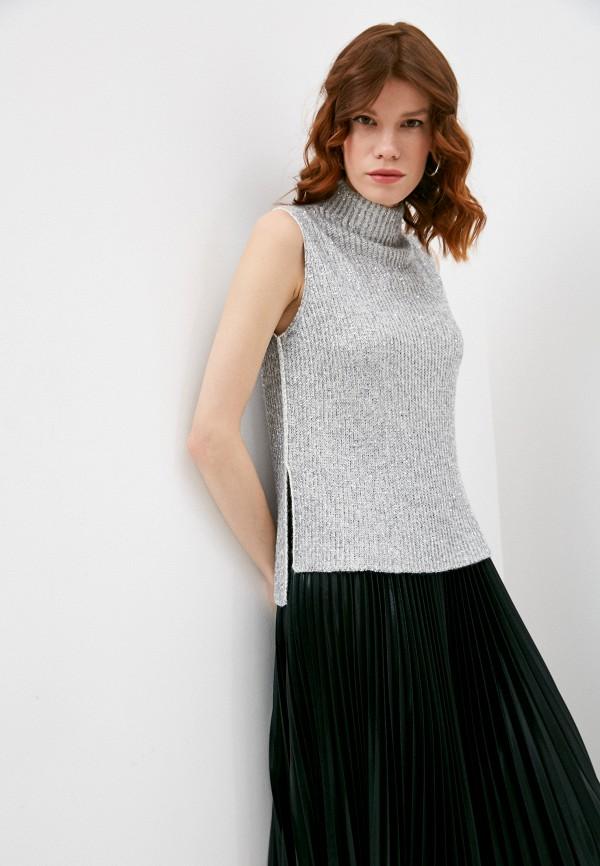 женский жилет max&co, серый