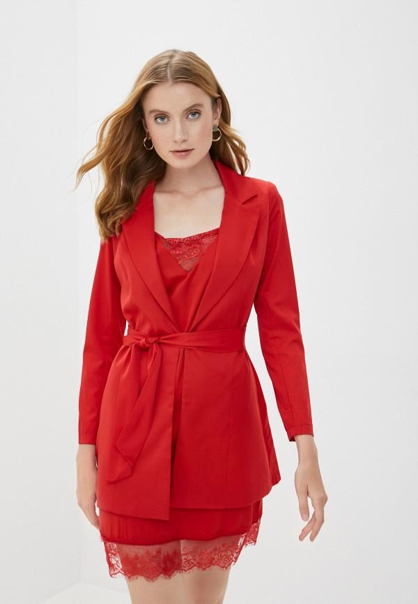 женский костюм marcella, красный