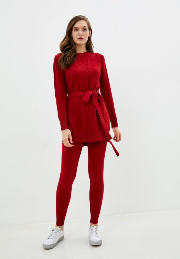 женский костюм marcella, бордовый