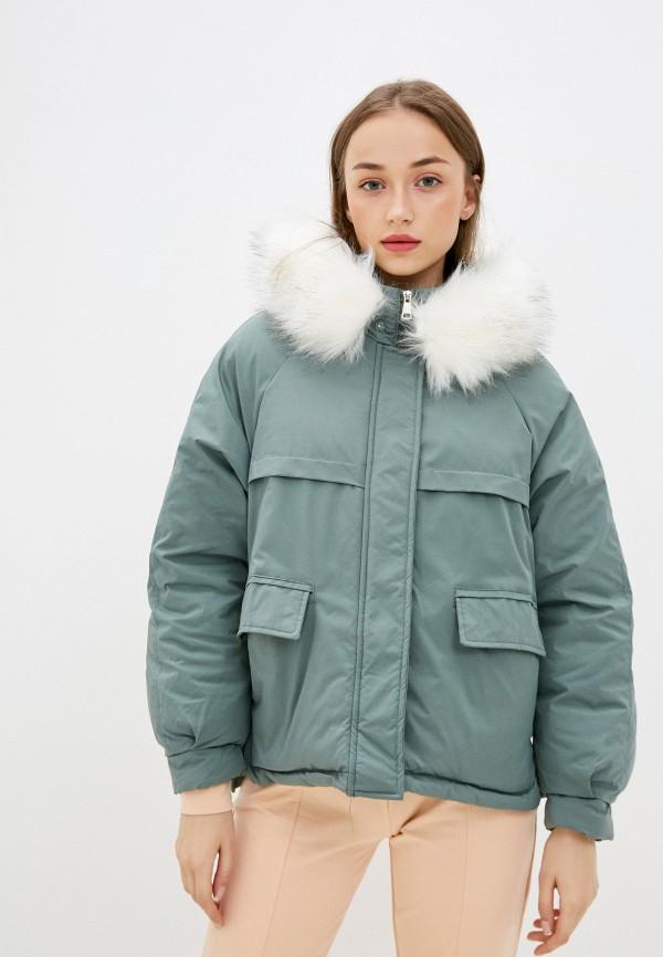 женская куртка marcella, зеленая