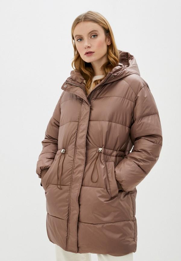 женская куртка marcella, коричневая
