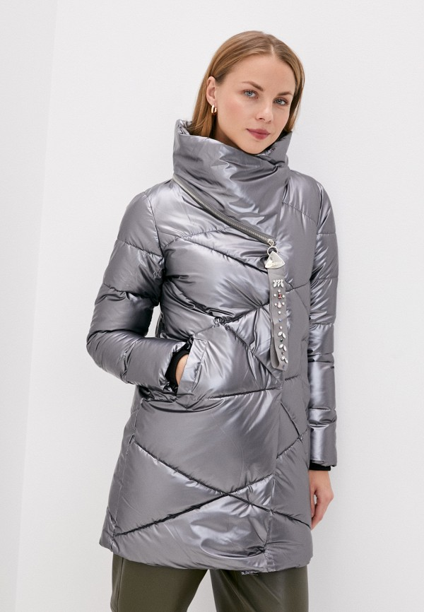 женская куртка mamma mia, серебряная
