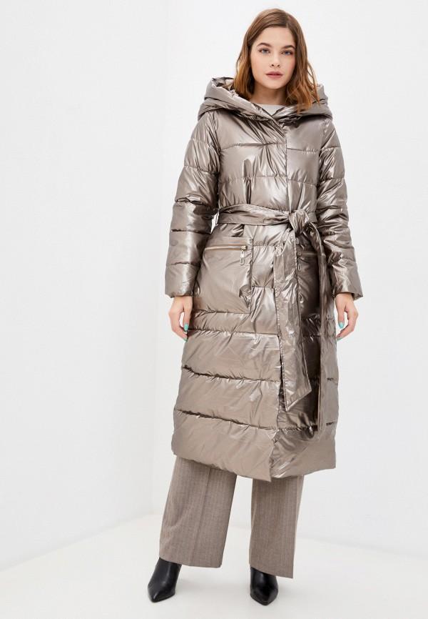 женская утепленные куртка mamma mia, золотая
