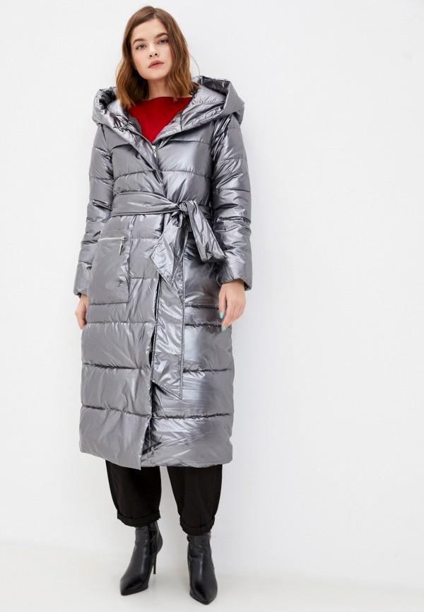 женская утепленные куртка mamma mia, серебряная