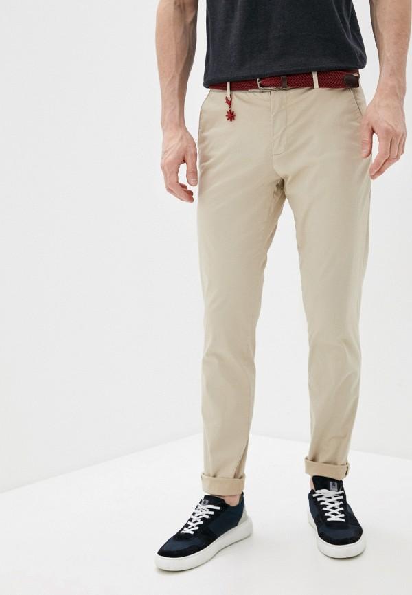 мужские брюки чинос manuel ritz, бежевые