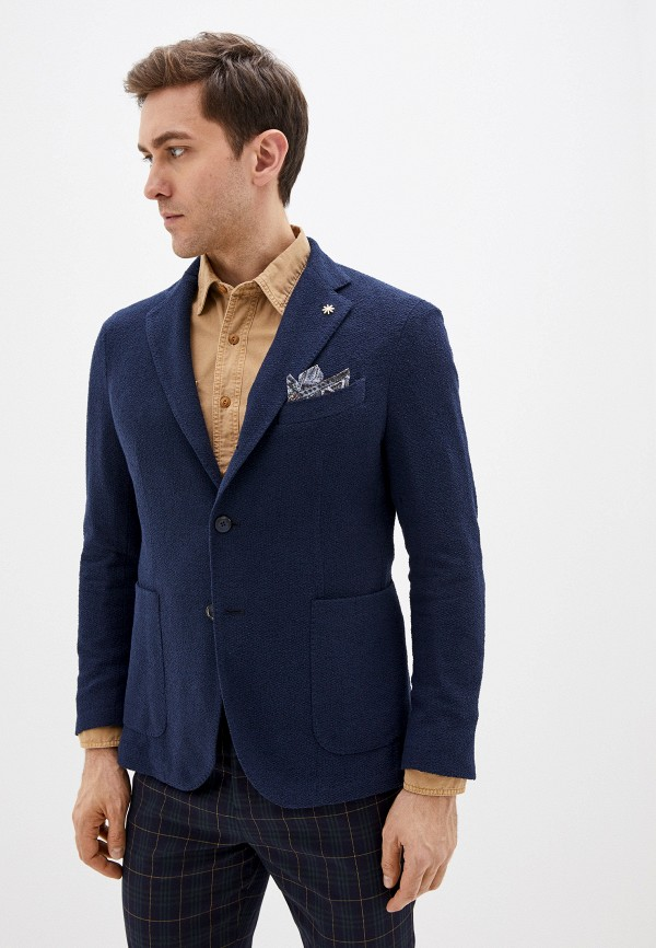 мужской пиджак manuel ritz, синий