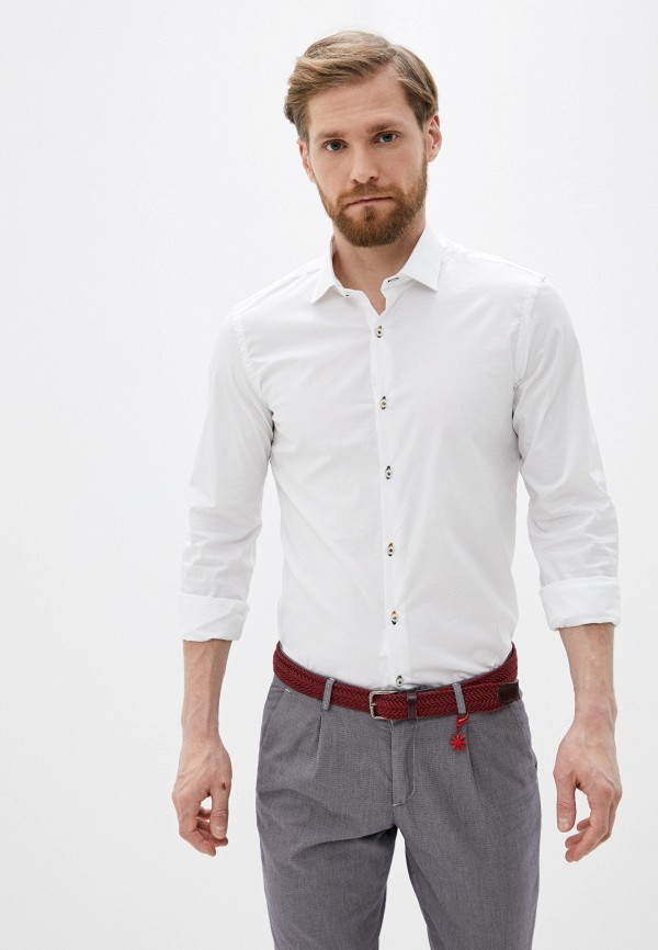 мужская рубашка с длинным рукавом manuel ritz, белая
