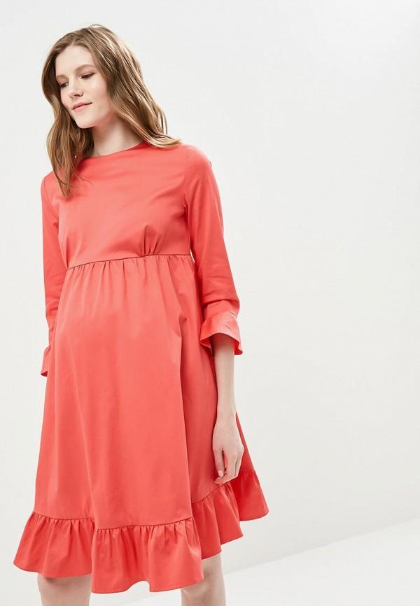 Купить Платье MammySize, ma119ewacwf5, коралловый, Весна-лето 2018