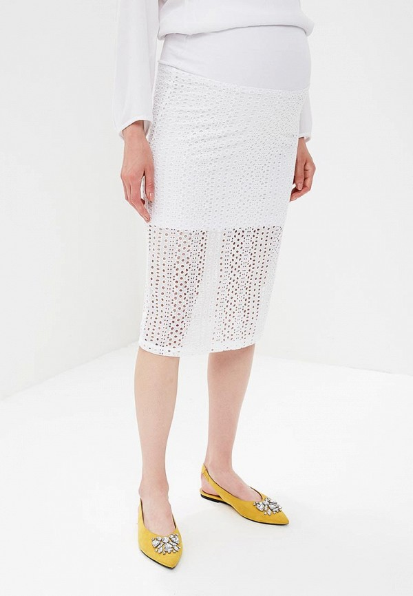 женская юбка для беременных mammysize, белая