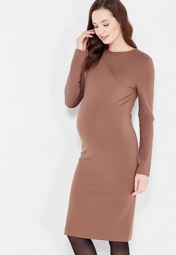 женское повседневные платье mammysize, коричневое
