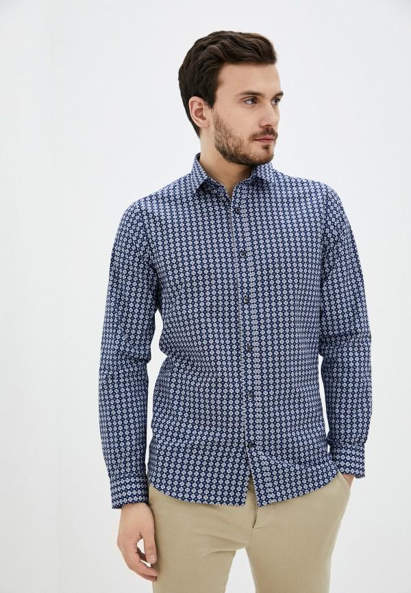 мужская рубашка с длинным рукавом matinique, синяя